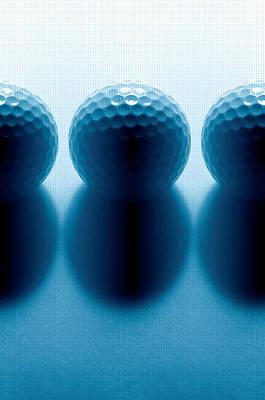 Par 3...golf Balls Print by Tom Druin