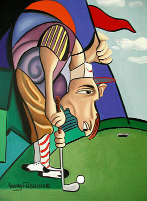 Par For The Course Print by Anthony Falbo