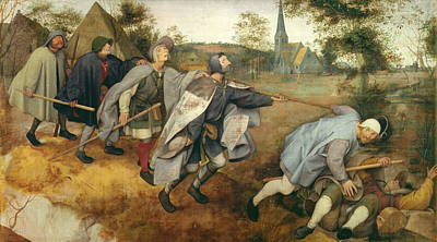Parable Of The Blind, 1568 Tempera On Canvas Print by Pieter the Elder Bruegel