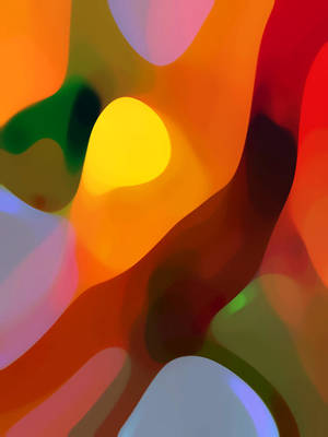 Abstract Movement Painting - Paradise Found 2 Tall by Amy Vangsgard