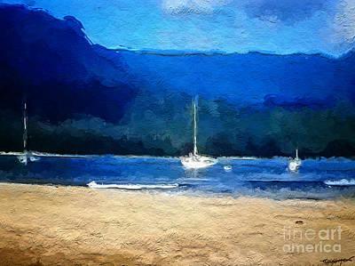 Sailboat Mixed Media - Paradise Found by Anthony Fishburne