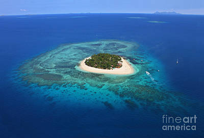 Paradise Island In South Sea I Print by Lars Ruecker