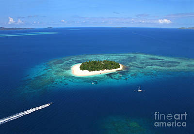 Paradise Island In South Sea II Print by Lars Ruecker