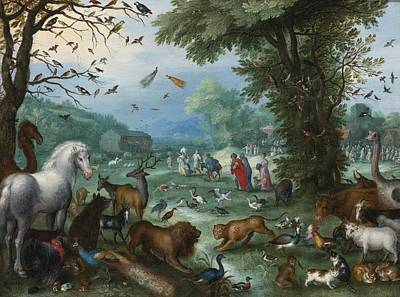 1596 Painting - Paradise Landscape by Celestial Images