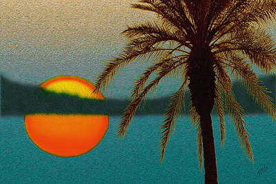 Paradise Sun Print by Ben and Raisa Gertsberg
