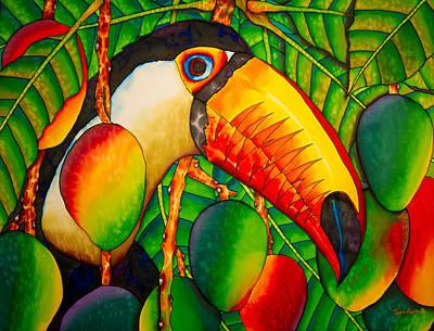 Exotic Bird Painting - Paradise Toucan by Daniel Jean-Baptiste