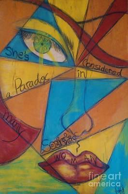Paradox Woman Print by Adriana Garces
