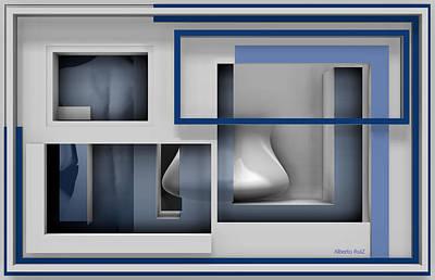 Nude Digital Art - Parallel by Alberto  RuiZ