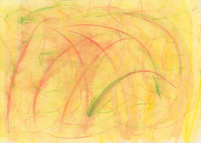 Abstract Movement Drawing - Paranoid In Reverse-horizontal by Kelly K H B