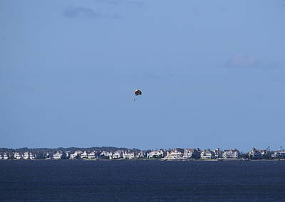 Wet Photograph - Parasailing At Roanoke by Cathy Lindsey