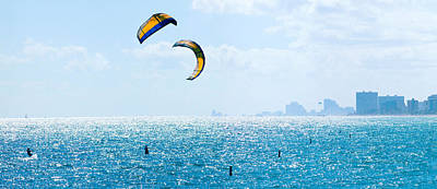 Parasailing Over The Atlantic Ocean Print by Panoramic Images