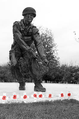 101st Airborne Division Photograph - Paratrooper Memorial by Robert Taylor