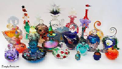 Parfum Bottle Collection.  2013 90/51 Cm.  Original by Tautvydas Davainis