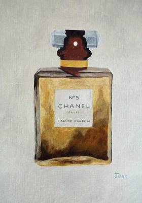 Chanel Painting - Parfum No.5 by Rebecca Jenkins