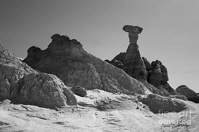 Rimrock Photograph - Paria Utah Xiv Bw by David Gordon