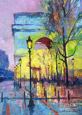 Decorative Painting - Paris Arc De Triomphie  by Yuriy  Shevchuk