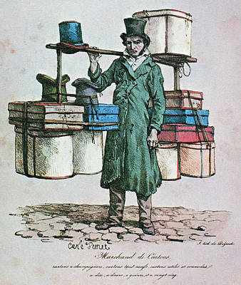 Cri Painting - Paris Box Peddler, C1822 by Granger