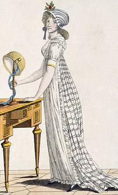 Leaning Drawing - Paris Dress, From Ladys Magazine, 1802 by English School