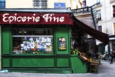 Epicerie Photograph - Paris Epicerie by Georgia Fowler