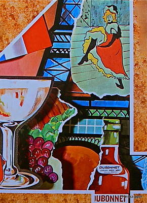 Rolland Painting - Paris For Lovers by Hemu Aggarwal