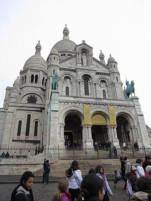 Carving Photograph - Paris France - Basilica Of The Sacred Heart - Sacre Coeur - 12121 by DC Photographer