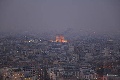 Paris France - Eiffel Tower - 011318 Print by DC Photographer