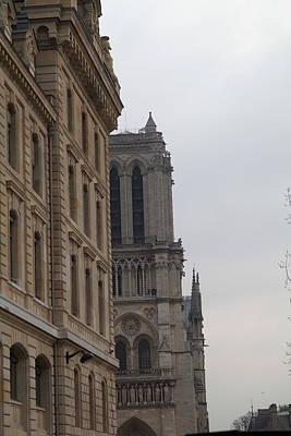Street Photograph - Paris France - Notre Dame De Paris - 01131 by DC Photographer