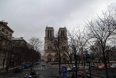 Paris France - Notre Dame De Paris - 011311 Print by DC Photographer