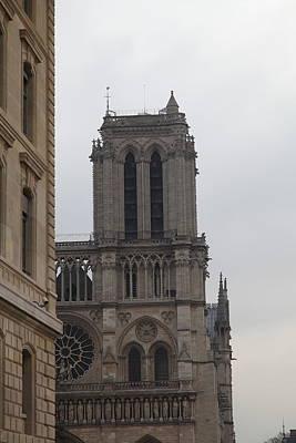 Paris France - Notre Dame De Paris - 01132 Print by DC Photographer