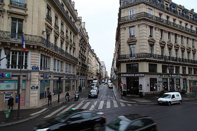 Paris France - Street Scenes - 011330 Print by DC Photographer