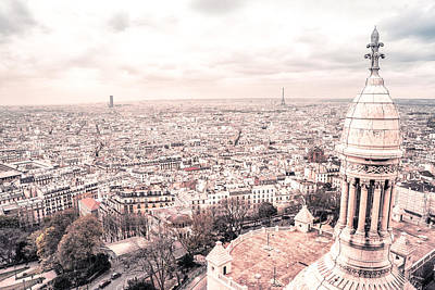 Sacre Coeur Photograph - Paris From Above - View From Sacre Coeur Basilica by Vivienne Gucwa