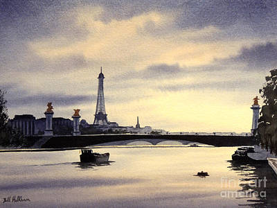 Gaul Painting - Paris From The Seine by Bill Holkham