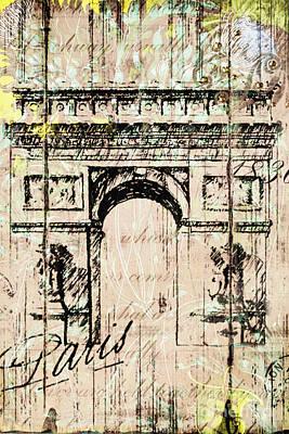 Paris Gate Vintage Poster Original by Art World