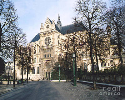 Ornate Photograph - Paris Gothic Churches Cathedrals - Paris Saint Eustach Cathedral  by Kathy Fornal