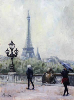 Heather Burton Painting - Paris by Heather Burton