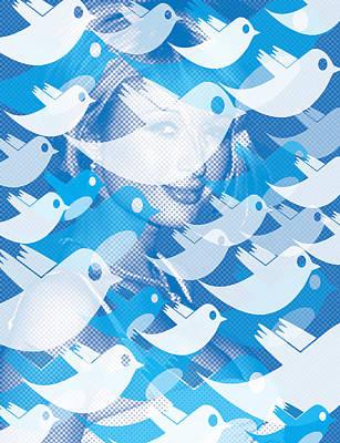 Paris Hilton Twitter Original by Tony Rubino