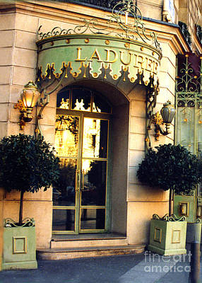 Paris Laduree French Bakery Patisserie - Champs Elysees Location Print by Kathy Fornal