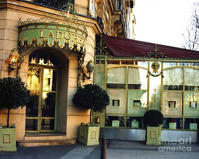 Paris Laduree Macaron French Bakery Patisserie Tea Shop - Champs Elysees - The Laduree Patisserie Print by Kathy Fornal