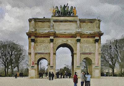 Louvre Digital Art - Paris Louvre 4 by Yury Malkov