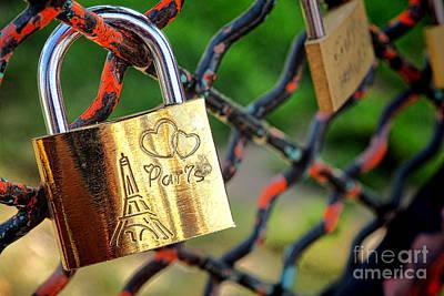 Paris Love Lock Print by Olivier Le Queinec