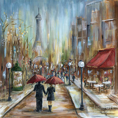 Lamp Painting - Paris Lovers Ill by Marilyn Dunlap