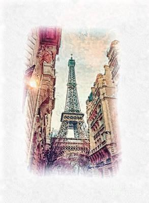 Paris Mon Amour Print by Mo T