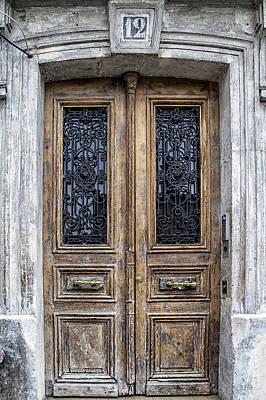 Paris Montmartre Door Number 12 Print by Georgia Fowler