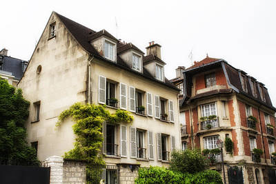 Outlook Photograph - Paris Montmartre Houses by Georgia Fowler
