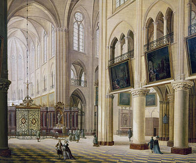 Notre Dame Cathedral Painting - Paris Notre Dame, C1780 by Granger