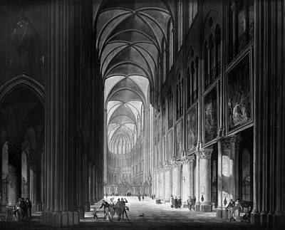 Notre Dame Cathedral Painting - Paris Notre Dame, C1825 by Granger