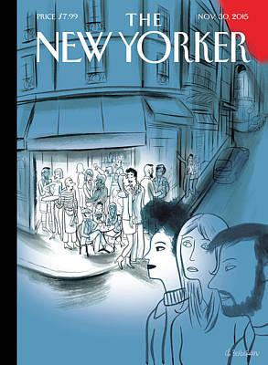 Terrorism Painting - Paris, November 2015 by Charles Berberian