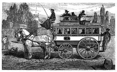 Paris Omnibus Print by Science Photo Library