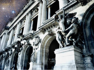 Paris Opera House - Palais Garnier - Opera De Paris Garnier - Opera House Architecture Print by Kathy Fornal