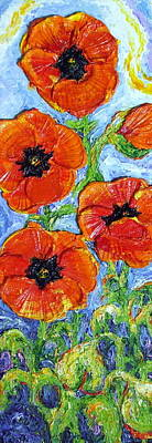 Paris' Orange Poppies Print by Paris Wyatt Llanso